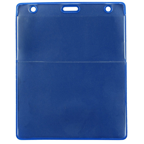 "Royal Blue Vinyl Vertical Credential Wallet with Slot and Chain Holes, 3"" x 4.25"" (100/pk)"