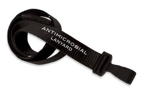 "5/8"" (16 mm) Anti-Microbial Lanyard with Breakaway & ""No-Twist"" Wide Plastic Hook (100/pk)"