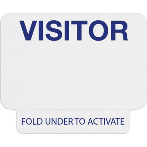 "T2023 1-day single-piece adhesive tab-expiring badge with printed ""VISITOR"""