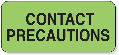 59701475 - CONTACT PRECAUTION Label - Green