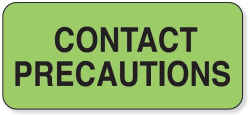 59701475 - CONTACT PRECAUTION Label - Green