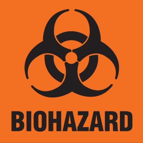 59701557 - BIOHAZARD Label - Orange