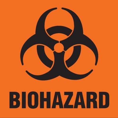 59701557 - BIOHAZARD Label - Orange