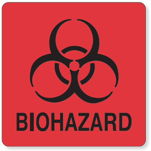 59702956 - BIOHAZARD Label - Red