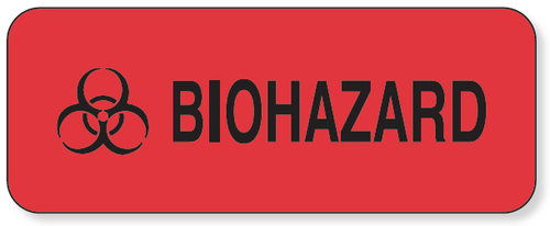 59702960 - BIOHAZARD LABEL - Red