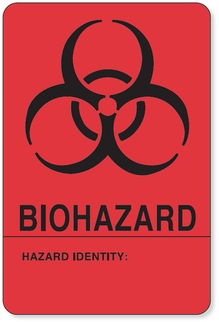 59704555 - BIOHAZARD LABEL - Red