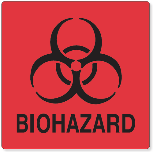 59704557 - BIOHAZARD LABEL, Red