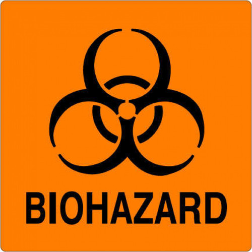 59704971 - BIOHAZARD Label - Orange