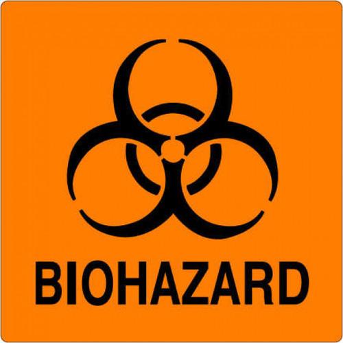 59704971 - BIOHAZARD Label - Orange