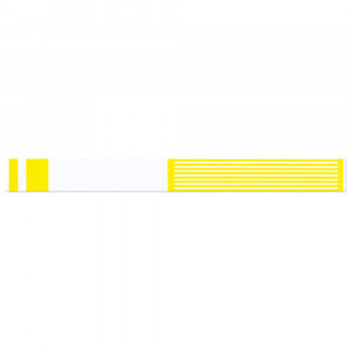 "SHORT STAY WRITE-ON WRISTBAND TYVEK 1""X10"" ADULT/PEDI YELLOW - 1000 PER BOX - 3000-14-PDR"