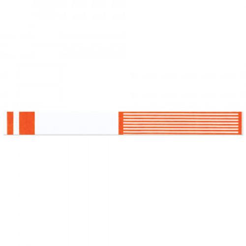 Short Stay® Write-on Tyvek® Wristband - Adhesive Closure - 1000/Box - Orange - 3000-17-PDR