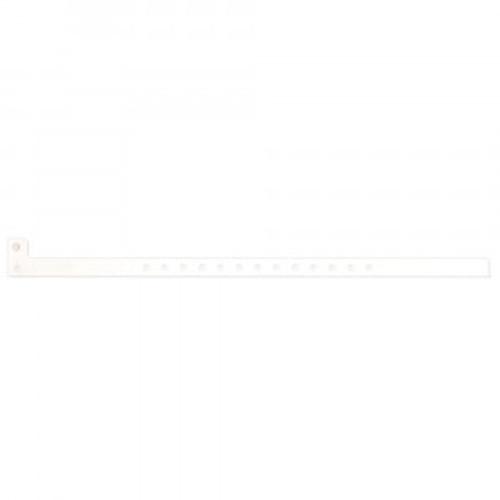 "SENTRY® SUPERBAND® WRITE-ON WRISTBAND POLY CLASP CLOSURE 1/2"" X 10"" PEDI WHITE - 500 PER BOX - 5060-11-PDM"