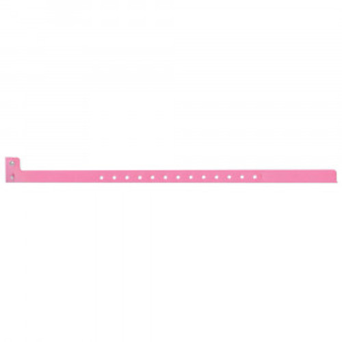 SENTRY® SUPERBAND® NARROW WRITE-ON WRISTBAND POLY SecurSnap® CLASP CLOSURE 1/2X10 PINK - 500 PER BOX - 5060-12-PDM