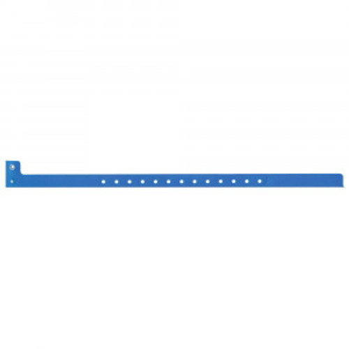 SENTRY® SUPERBAND® WRITE-ON WRISTBAND POLY SecurSnap® CLASP CLOSURE 1/2X10 ADULT NARROW BLUE - 500 PER BOX - 5060-13-PDM