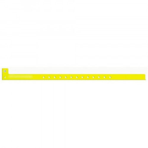 SENTRY® SUPERBAND® WRITE-ON WRISTBAND POLY SecurSnap® CLASP CLOSURE 1/2X10 ADULT NARROW YELLOW - 500 PER BOX - 5060-14-PDM
