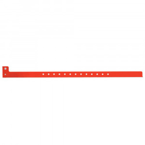 SENTRY® SUPERBAND® WRITE-ON WRISTBAND POLY SecurSnap® CLASP CLOSURE 1/2X10 ADULT NARROW RED - 500 PER BOX - 5060-16-PDM