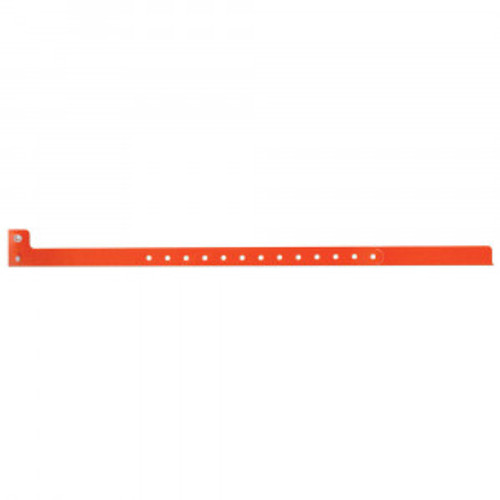 SENTRY® SUPERBAND® WRITE-ON WRISTBAND POLY SecurSnap® CLASP CLOSURE 1/2X10 ADULT NARROW ORANGE - 500 PER BOX - 5060-17-PDM