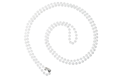 Plastic Beaded Neck Chain, Bead Size 4mm, with Nickel Plated Steel Connector