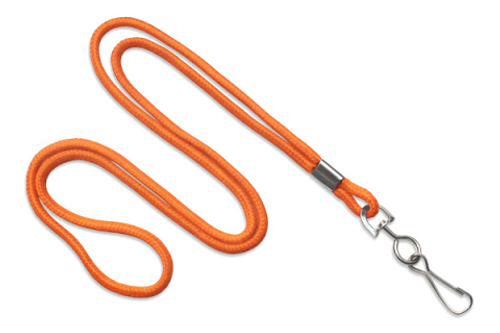 "Round 1/8"" Standard Lanyard with Nickel Plated Steel Swivel Hook 2135-3005"