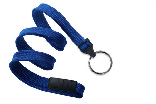 "3/8"" Breakaway Lanyard with Black-Oxide Split Ring"