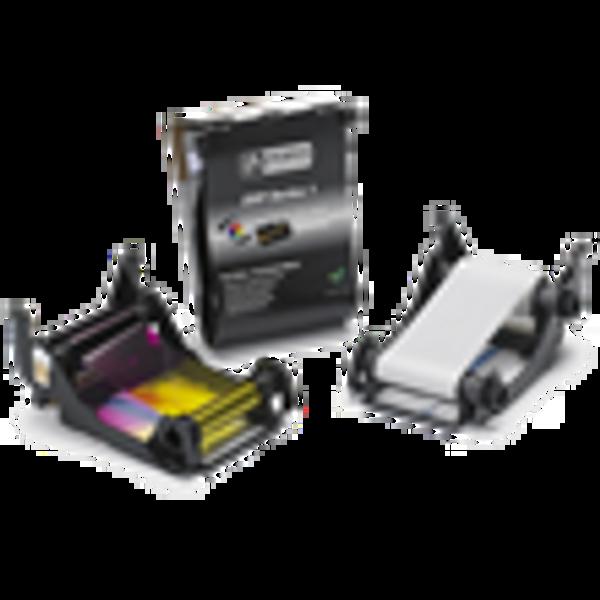 800011-140 Zebra ZXP Series 1 YMCKO Color Ribbon, 100 images