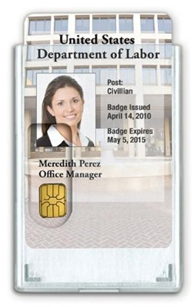 "1840-5081 CardProtectors™ Rigid Vertical Shielded 2-Card Holder, 3.38"" x 2.13"" (50/pk)"