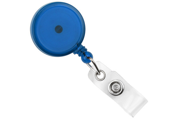 Translucent Blue Round Max Label Reel With Strap And Swivel Clip (25/pk)