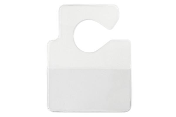"1840-3550 Clear Vinyl Horizontal Large Cut-Out Hangtag Holder, 3.75"" x 2.00"" (100/pk)"