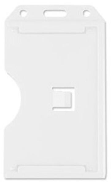 White Vertical Rigid Plastic 2-Sided Multi-Card Holder (50/pk)