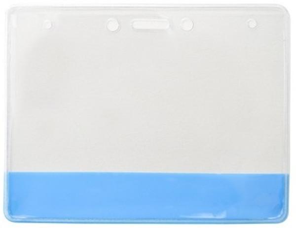 Vinyl Holder with Translucent Blue  Colored Bar (100/pk)
