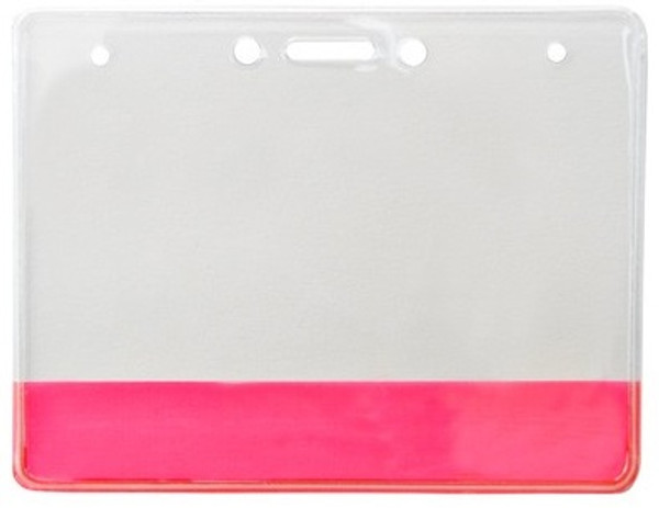 Vinyl Holder with Translucent Red Colored Bar (100/pk)