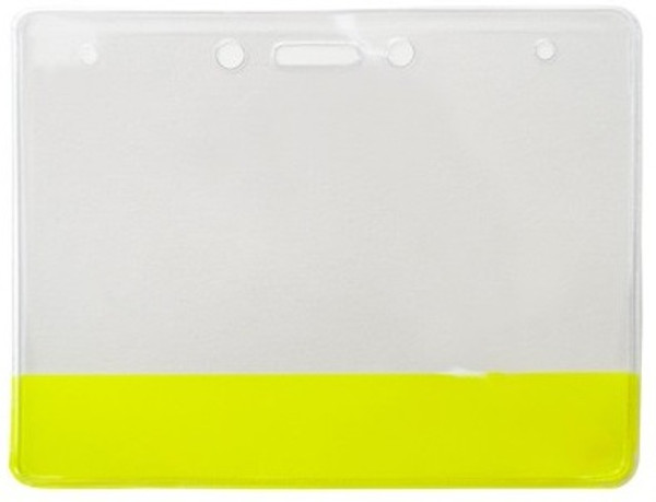 Vinyl Holder with Translucent Yellow Colored Bar (100/pk)