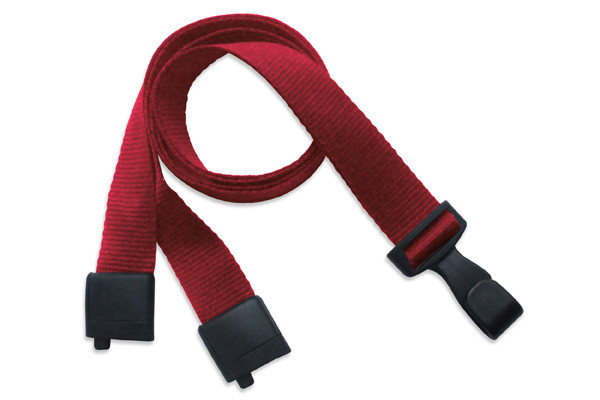 "5/8"" Recycled PET Lanyard with Breakaway And ""No-Twist"" Wide Plastic Hook"