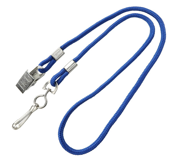 Open Ended Lanyard with Swivel Hook & Bulldog Clip