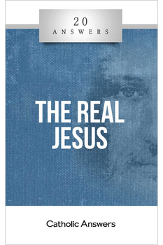 "The Man. The Myth?  Did Jesus even exist?  How can we trust what the Bible says about him?  Didn't Jesus' followers invent a lot of myths about him based on stories of pagan gods?  In this booklet you'll find smart, solid answers to these questions and many more. 20 Answers: The Real Jesus takes on the claims of modern skeptics about Jesus' life, his teaching, and his legacy, providing compelling evidence that the ""historical Jesus"" and the ""Christ of faith"" are one and the same.  The 20 Answers series from Catholic Answers offers hard facts, powerful arguments, and clear explanations of the most important topics facing the Church and the world—all in a compact, easy-to-read package."