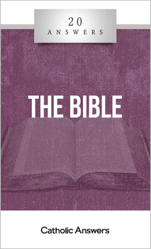 """God's Written Word  What does it mean to say that Scripture is """"inspired""""?  Why don't Catholics believe that the Bible is the sole rule of faith?  Do Christians have to follow all the strange and archaic laws found in the Old Testament?  In this booklet you'll find smart, solid answers to these questions and many more.  Catholics are sometimes accused of ignoring the Bible, but we believe that God gave us his inspired word in Sacred Scripture to teach, guide, and edify us. 20 Answers: The Bible offers a truly Catholic perspective on Scripture, showing how it harmonizes with God's revelation in Sacred Tradition and with the teaching authority of the Church. It also takes on challenges from skeptics, giving you the knowledge you need to answer those who say the Bible is too old, too incoherent, or too fantastic to believe.  The 20 Answers series from Catholic Answers offers hard facts, compelling arguments, and clear explanations of the most important topics facing the Church and the world—all in a compact, easy-to-read package."""