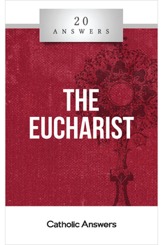 The Bread of Life  How do non-Catholic views of the Eucharist differ from the Catholic belief?  Is the Bread of Life discourse in John 6 evidence for the Real Presence?  What did the early Church Fathers believe about the Eucharist?  In this booklet you'll find smart, solid answers to these questions and many more.  20 Answers: The Eucharist will help you understand the main arguments for and against the Real Presence of Christ in the Eucharist.  The 20 Answers series from Catholic Answers offers hard facts, powerful arguments, and clear explanations of the most important topics facing the Church and the world—all in a compact, easy-to-read package.