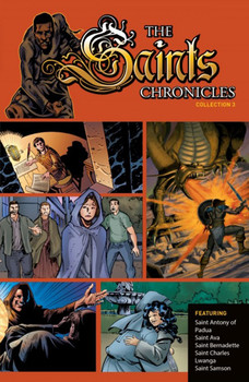 These gripping texts and dramatic images bring you the exciting stories of some of the Church's greatest saints. Along with them, you'll  embark upon the adventure of holiness, learning from their example how to embrace wholeheartedly God's unique mission for your own life.  In this spectacular graphic novel you'll meet:  • St. Antony of Padua, the brilliant young Franciscan friar whose deepest desire was to be a martyr for Christ. • St. Ava, the young girl born blind, whose great faith in the Lord led Him to restore her vision. • St. Samson, the humble monk who, legend claims, slew a fierce dragon, saving the people of Wales from     destruction. • St. Bernadette, the fourteen-year-old girl whose 19th-century visions of the Blessed Mother in Lourdes, France, continue to inspire pilgrimages and devotions to this day. • St. Charles Lwanga, the African courtier who, for the sake of the Faith, defied his wicked king, knowing it would cost him his life.  Join these remarkable saints as they boldly pursue lives of holiness. Let their profound faith and unwavering devotion to God's will inspire and sustain you as you confront evils in our own day and time.