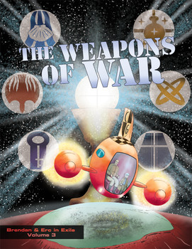 Everybody's favorite Catholic outer-space delivery pilots return for their greatest adventure yet in Weapons of War!   Fresh from saving the solar system while being introduced to God and his Church in The Truth Is Out There and defeating a lunar megalomaniac determined to rewrite salvation history in The Big Picture, Brendan and Erc land in a magnificent domed city on Mars—for what is supposed to be a simple shuttle job.   But soon they find themselves caught up in a sinister assault on faith and freedom.  Will Mars be lost to the Enemy?     Brendan and Erc's only hope for the fight is in the power of God's sacramental gifts.