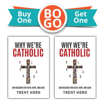 Buy One, Get One Free!  How can you believe all this stuff?  This is the number-one question Catholics get asked—and, sometimes, we ask ourselves. Why do we believe that God exists, that he became a man and came to save us, that what looks like a wafer of bread is actually his body? Why do we believe that he inspired a holy book and founded an infallible Church to teach us the one true way to live?  Ever since he became Catholic, Trent Horn has spent a lot of time answering these questions, trying to explain to friends, family, and total strangers the reasons for his faith      Some didn't believe in God, or even in the existence of truth.     Others said they were spiritual but didn't think you needed religion to be happy.     Some were Christians who thought Catholic doctrines over-complicated the pure gospel.     And some were fellow Catholics who had a hard time understanding everything they professed to believe on Sunday.  Why We're Catholic assembles the clearest, friendliest, most helpful answers that Trent learned to give to all these people and more. Beginning with how we can know reality and ending with our hope of eternal life, it's the perfect way to help skeptics and seekers (or Catholics who want to firm up their faith) understand the evidence that bolsters our belief—and brings us joy.