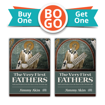 Buy One, Get One Free!  The apostles preached and preserved the Faith they received from Jesus.  This is the story of what happened next.  In The Very First Fathers, Jimmy Akin (author of the best-selling book The Fathers Know Best) takes you on a tour of the earliest Christian writings outside the New Testament. From the most famous figures and most notable works to those lesser-known but no less important, this pivotal time in the development of the early Church is revealed in fascinating detail.  Jimmy shows how, even in the first century after the Resurrection, it was necessary to defend and explain truths that are still under attack today, such as the real presence of Christ in the Eucharist and the perpetual virginity of Mary. The Very First Fathers is thus not only a compelling look at the dawn of the Christian age—it's edifying listening for anyone who wants to understand and defend the full truth of Catholicism.  Also available in MP3 Format