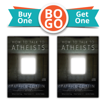 Buy One, Get One Free!  Have you heard these claims before?      A good God would not allow innocents to suffer.      Faith is purely subjective, like belief in Santa or the Tooth Fairy.      Science has made faith obsolete.   Or these?       We don't need to debate unbelievers; all we need to do is live exemplary lives.      Faith is a blind leap in the dark.      Religion is a private matter and shouldn't be argued about.  The fact is, all of these claims are false and can be refuted.  In his audio presentation, How to Talk to Atheists— Patrick Coffin conducts captivating interviews with three of the best in their respective fields when it comes to refuting atheist claims.  Each interviewee tackles the challenge of atheism from his or her own expertise: Dr. William Lane Craig (philosophy), ex-atheist Jennifer Fulwiler (dealing with family members), and Fr. Robert Spitzer, S.J. (the latest discoveries of modern physics).  Dr. William Lane Craig is the man whom Richard Dawkins, the world's most famous atheist, refuses to debate. Dr. Craig holds two PhDs and is a leading expert on the cosmological argument for God's existence. His website is reasonablefaith.org.  Jennifer Fulwiler grew up in an atheist home but is now one of the most widely read female Catholic bloggers. She is also an author and reality TV show star (Minor Revisions). Her ruminations and incisive commentary can be found at conversiondiary.com.  Robert Spitzer, S.J., Ph.D., the former president of Gonzaga University in Spokane, Washington, has debated Stephen Hawking, Leonard Mlodinow, and Deepak Chopra on Larry King Live and has appeared on the Today Show and the History Channel. Fr. Spitzer is the president of the Magis Center for Reason and Faith in Irvine, California, found online at magisreasonfaith.org.  In his presentation, Getting Started In Apologetics, Patrick Coffin taught you the basics of defending the Faith.  In What You Need To Know About Exorcism he gave you the lowdown on exorcism, the devil and spiritual warfare.  Now in How To Talk To Atheists he presents solid, easy to understand arguments that you can use when the opportunity to stand up for the Truth presents itself.  Also available in MP3 Format