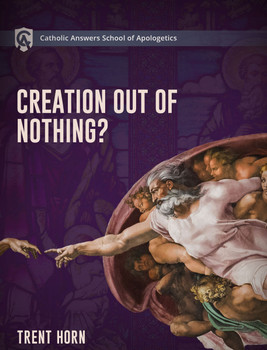"Creation Out of Nothing  Online Course Description  Is our world just an accident or did God create it from nothing? And is this just an article of Faith, or can we use reason and evidence to prove that God exists?  That's why the Catholic Answers School of Apologetics is offering Creation Out of Nothing as a resource to equip you to understand, explain, and defend the Church's teachings on this important doctrine.  In the sections on science you'll cover topics like:      Big Bang cosmology     Atheistic arguments against a First Cause     Evidence for design in ""fine-tuning""     Multiverses and ""creation from nothing""  In the sections on philosophy you'll cover topics like:      The nature of infinity     Philosophical arguments for a finite past     The nature of time     The case for a divine creator  In the section on theology you'll cover topics like:      Why creation from nothing is necessary for understanding God     Biblical evidence for creation from nothing     Answering competing Mormon doctrines of creation     The Church fathers on ""creation from nothing""  The course contains more than 18 short, easy-to-watch video segments, so you can study at your own pace.  Creation Out of Nothing will give you the knowledge and confidence you need to defend your faith. Even seasoned defenders of the Faith will learn things they didn't know before."