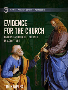 "In his Catholic Answers School of Apologetics course, Evidence for the Church, Catholic Answers Director of Apologetics and Evangelization Tim Staples shares hard-won insights into the apologetics of ecclesiology that will empower you to defend the Catholic Church to anyone.      He explores in depth the Church as ""the fullness of [Jesus Christ]"" (Eph. 1:22-23) in the world as a foundation to understanding its divine authority.      He shows how the Church is visible, hierarchical, and authoritative—as opposed to the invisible, fallible church of Protestantism.      He reveals why Jesus chose not to ""name"" his Church but rather gave it four unmistakable marks.  He explains the scriptural doctrine of apostolic succession, the foundational teaching of the Christian faith that has been lost to countless Protestant Christians.      He calls upon Eastern Catholicism's concept of theosis as a key to understanding many of the Church's most controversial claims.      Throughout, he makes what was once difficult to understand surprisingly easy.  This course comprises more than fifty short, easy-to-watch video segments so you can study at your own pace, revisit what you would like, and make sure you understand the material thoroughly.  Evidence for the Church will equip you to defend Holy Mother Church and to bring souls to Jesus Christ through the institution he established on Earth."