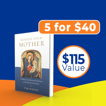 """From the cross Jesus gave us his mother to be our mother, too: a singularly holy model, consoler, and intercessor for our spiritual journey. Yet most Protestants—and too many Catholics—don't understand the role that God wants her to play in our lives.  In Behold Your Mother, Tim Staples takes you through the Church's teachings about the Blessed Virgin Mary, showing their firm Scriptural and historical roots and dismantling the objections of those who mistakenly believe that Mary competes for the attention due Christ alone.  Combining the best recent scholarship with a convert's in-depth knowledge of the arguments, Staples has assembled the most thorough and useful Marian apologetic you'll find anywhere.  He also shows how all the Marian doctrines are relevant—even essential—to a salvific faith in Jesus. From her divine maternity to her perpetual virginity, from her Immaculate Conception to her Assumption, the Church's core teachings about Mary are intertwined with the mysteries of Christ. In a word, Mary matters.  Read Behold Your Mother and find out just how much.  Also available as an eBook  """"The greatest doctrinal obstacle to my return to the Catholic Church was fear that Catholics had no basis for—or boundaries on—the Marian dogmas. If only Tim Staples had written Behold Your Mother then! His presentation is fearless, precise, biblically wise, historically rooted, and popular in expression. He addresses objections I haven't seen addressed elsewhere. I can't think of a more insightful, comprehensive single volume that persuades so thoroughly. Great, truly great, piece of apologetics."""" —Al Kresta, president, Ave Maria Communications and host of Kresta in the Afternoon  """"Tim Staples respectfully but clearly answers every conceivable Protestant objection to Mary, the Mother of God. With the street cred of one who has been there, Tim backs up his words with Scripture every time.  His answers are exhaustive but not exhausting!  An invaluable book for thoughtful, truth"""