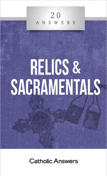 """Aren't relics and sacramentals just """"Catholic superstition""""?  What are some biblical reasons for revering sacred objects and using them in prayer?  How does the Church know that body parts of saints and other holy objects are authentic?  Are there any rules for keeping relics and sacramentals at home, giving them to others, and disposing of them if necessary?  The use of holy objects in worship is one of the best-known hallmarks of Catholicism—and one of the most misunderstood. Whether it's venerating the corporal remains or personal belongings of saints (relics) or praying with the help of tangible items in liturgy and individual devotion (sacramentals), such practices often puzzle Catholic, Protestant, and nonbeliever alike. 20 Answers: Relics and Sacramentals clears up the misconceptions and shows you how Christianity is truly an incarnational religion that involves the whole person, body and soul, and the physical world that Jesus came to redeem.  The 20 Answers series from Catholic Answers offers hard facts, compelling arguments, and clear explanations of the most important topics facing the Church and the world—all in a compact, easy-to-read package."""