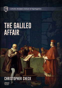 The Galileo Affair is the go-to event cited by enemies of the Catholic Church as hard evidence that she is opposed to scientific learning. The facts of the story do not support this narrative. Indeed, the Church throughout history has led the way in learning across all the academic disciplines including in the natural sciences.   Catholics who want to defend the Church face a particular challenge when confronted with the Galileo Affair, or, more correctly, the public perception of the Galileo Affair. The challenge is how to have a peaceful conversation with a hostile person about an involved tale that does not summarize easily and has come to mean something that it does not.    Christopher Check's latest course, The Galileo Affair, will give you the understanding of the Galileo Affair and the facts of the story you need to equip yourself for this conversation. Among many other things, the student will learn how to:  • Talk about the historical context in which the event took place and why this context is critical  • Explain the Church's actual teachings about the cosmos and about the interpretation of Scripture, as well as the Church's genuine pastoral concerns and desire to avoid scandal  • Identify Galileo's scientific contributions as well as the not-insignificant errors in his theories  • Answer with facts the abundant falsehoods that surround the Galileo Affair.  The student will also be able to talk about the personalities, temperaments, and motives, as well as the shortcomings and virtues, of Galileo and of the principal churchmen in the story. Apart from these, this story cannot be understood.  For too long, the alleged persecution of Galileo has been a stick used to beat the Church. Prepare yourself to defend the Church and talk with clarity and grace about what has become one of the most controversial events in Church history.  14 lessons on 1 DVD + Study Guide