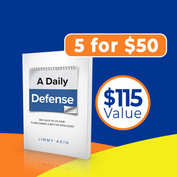 In A Daily Defense, Jimmy compiles 366 challenges that Catholics often hear from skeptics and non-Catholics—about God, Jesus, Scripture, morality, Mary, history, and a host of doctrines—and teaches you how to answer them.