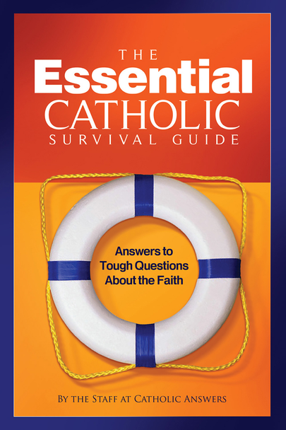 "Being Catholic isn't easy.  Every Catholic will come face-to-face with anti-Catholic attacks that are launched against the Faith.  Don't you owe it to yourself to make sure you have the very best in apologetic resources right at your fingertips?  There's no better time to arm yourself with what we consider a must for every Catholic's home library… The Essential Catholic Survival Guide.  By compiling seventy of our best apologetic tracts into one cohesive, comprehensive book that can be used by anyone, anytime, anywhere to defend the Catholic faith, we've created what many consider the ""go-to"" resource when it comes to answering questions about the Faith.  The Essential Catholic Survival Guide is indexed according to topic in a unique ""question and answer"" format that allows the reader to find the right answer to any question instantly. It covers the questions and misconceptions people have about the Catholic faith on a variety of topics, including:      The Church and the papacy     Scripture and Tradition     Mary and the saints     The sacraments     Salvation     Last things     Morality and science     Anti-Catholicism     Non-Catholic churches and movements     Practical apologetics  It's the essence of Catholic apologetics—all rolled up into one attractive, easy-to-use manual that has gained a reputation as the most effective tool of its kind."