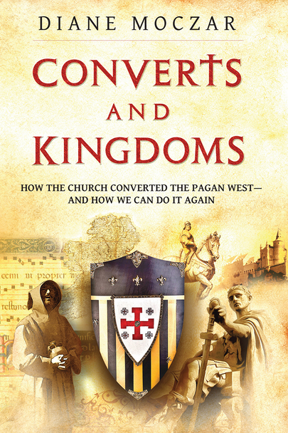With book, Converts And Kingdoms, historian Diane Moczar has written a marvelous book about great converts who changed not just the Church but also the destiny of human civilization.  In her accessible and easy-to-read style she makes history come alive.  Mere centuries after its beginning as an obscure Jewish sect, the Catholic Church stormed the ancient Western world, and from its Roman remnants and barbarian tribes a united Christendom was forged. How do we explain this remarkable success? And what can we learn from it?  In Converts and Kingdoms, Professor Moczar tells the story of early Christianity's faith, courage, and cunning—chronicling the labors of missionaries and martyrs (with no small help from Providence) to spread the gospel and lay the foundation for the most magnificent culture human history has ever known.  With her stirring narrative style, Dr. Moczar reveals a young Church ardently occupied with the great work of conversion: with saints and generals, priests and kings alike filled with zeal to make disciples of all nations. From the Roman temples at the heart of the old world to the Aztec altars on the border posts of the new, you will encounter heroic tales of the nascent Faith, including:      The emperor who put his trust in the one God rather than the myths and sorcery of his predecessors—and changed the course of the world to come.     The would-be hermit who became an accidental missionary—and helped birth the quintessential Catholic kingdom. Pious monarchs who repelled barbarian invaders—and then welcomed them into the Christian family.     The former slave boy who returned to the land of his pagan captors—and turned it into an island of saints and scholars.     The Marian miracle that scattered the demons of human sacrifice—and opened the door to a new Christian continent.   Within these pages you will find not only the story of the Church's early missionary efforts but also an analysis of why they succeeded: providing you valuable lesson